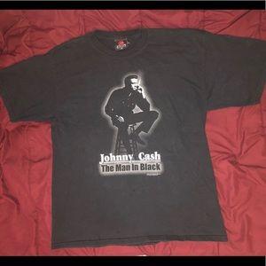 Johnny Cash Man In Black T-Shirt Sz XL